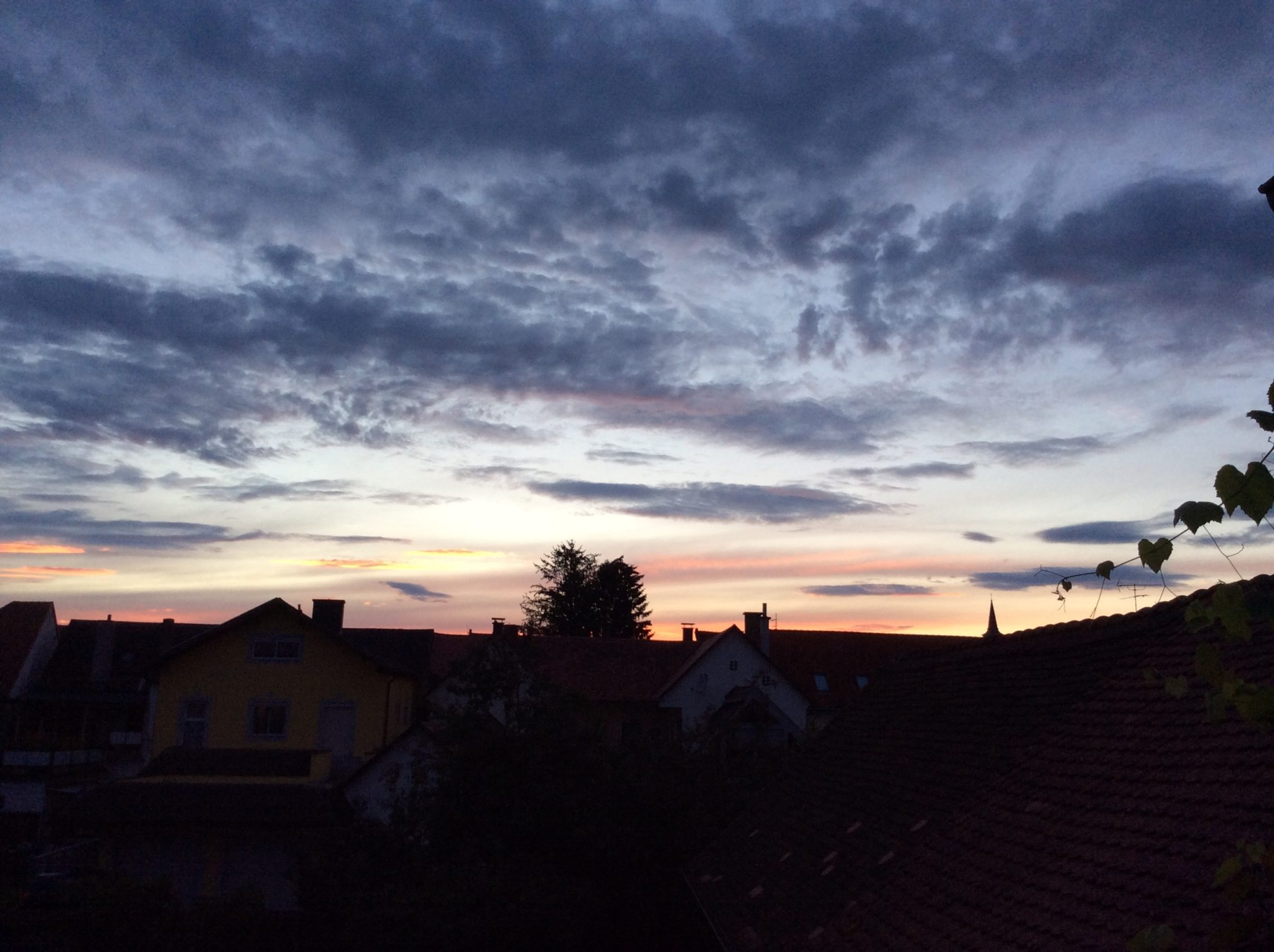 Abendausblick vom Westbalkon